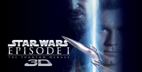 Star Wars the phantom menace in 3d rare ewan mcgregor logo