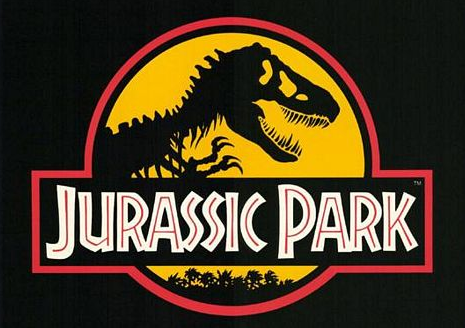 Jurassic park logo rare one sheet movie poster promo rare