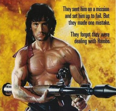 STALLONE Rambo logo title image