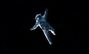 Gravity rare promo movie poster sandra bullock george clooney