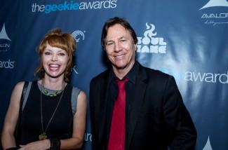 The Geekie Awards - Photo By BNatural Photography - Guest w Presenter Richard Hatch (Battlestar Galactica)