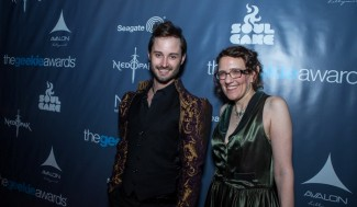 The Geekie Awards - Photo By BNatural Photography - Nominees Brad Bell (Husbands) Jane Espenson (Once Upon A Time)