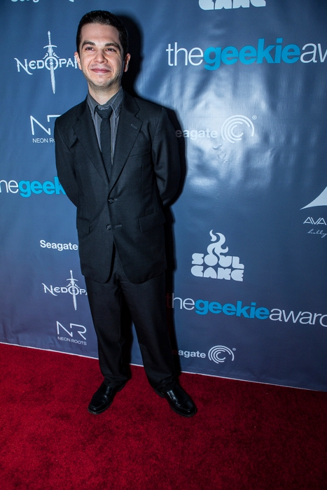 The Geekie Awards - Photo By BNatural Photography - Presenter Samm Levine (Freaks & Geeks & Ingourious Basterds)