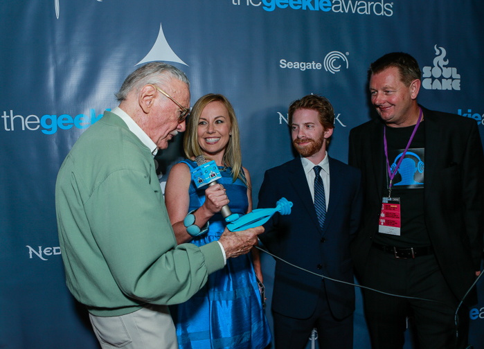 The Geekie Awards - Photo By BNatural Photography - Stan Lee and Seth Green & KB 3