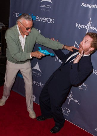 The Geekie Awards - Photos By Joe Lester - Stan Lee & Seth Green