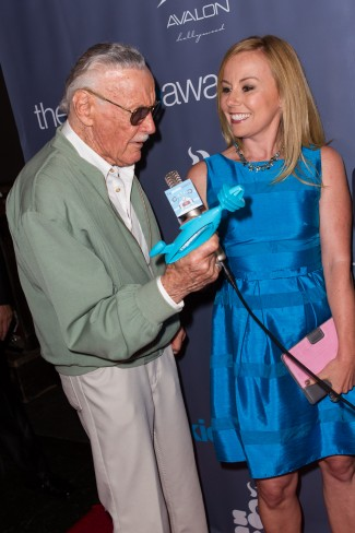The Geekie Awards - Photos By Joe Lester - Stan Lee with RC Host Kristyn Burtt