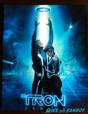 olivia wilde signed autograph tron poster rare promo hot cora