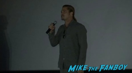 sexy brad pitt at a fan screening of World War Z madrid fan screening with brad pitt q and a (5)