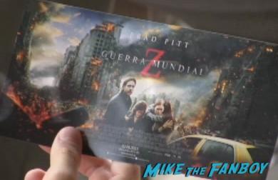 World War Z madrid fan screening with brad pitt q and a