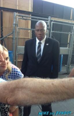 Diane Kruger signing autographs for fans at jimmy kimmel live