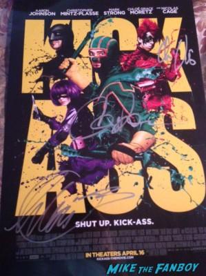 Kick ass signed autograph promo mini movie poster rare christopher mintz plasse