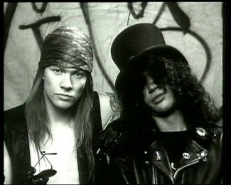 axl_slash fron guns n roses rare black and white photo
