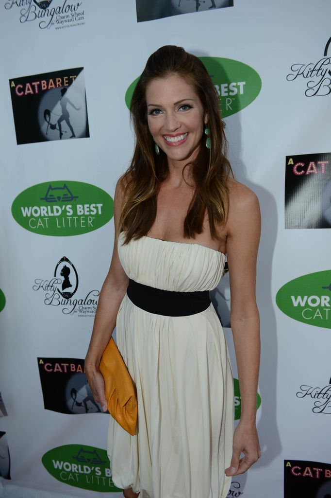Tricia Helfer on the red carpet at A CATBARET!