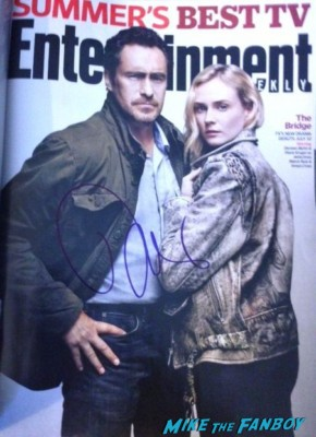 diane kruger signed autograph entertainment weekly magazine the bridge Diane Kruger signing autographs for fans at jimmy kimmel live