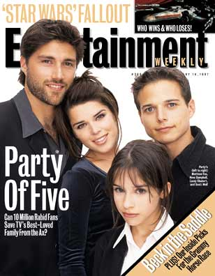 Entertainment Weekly Party of five magazine cover rare promo Party of five DVD cover rare promo scott wolf baily