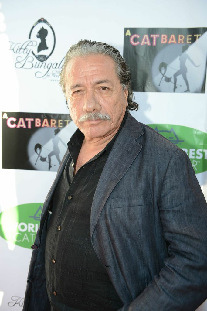 edward james olmos on the red carpet at A CATBARET!