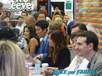 How I met your mother cast signing autographs at the FOX Booth Jason Segel Alyson Hannigan Josh Radnor Neil Patrick Harris Jason Segel signing autographs at the how I met your mother autograph signing at the FOX Booth sdcc 2013