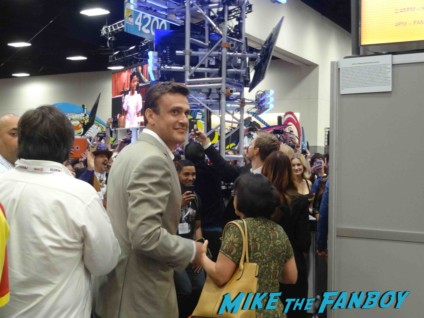 Jason Segel signing autographs at the how I met your mother autograph signing at the FOX Booth sdcc 2013