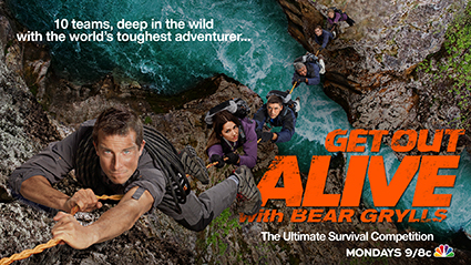Get Out Alive With Bear Grylls logo title bar rare promo