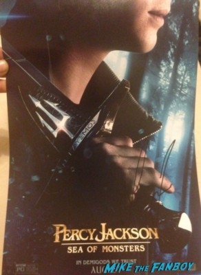 logan lerman signed autograph percy jackson movie poster Logan Lerman signed autograph fan photo rare promo hot sexy Logan Lerman and Alexandra Daddario percy jackson apple store q and a in New York