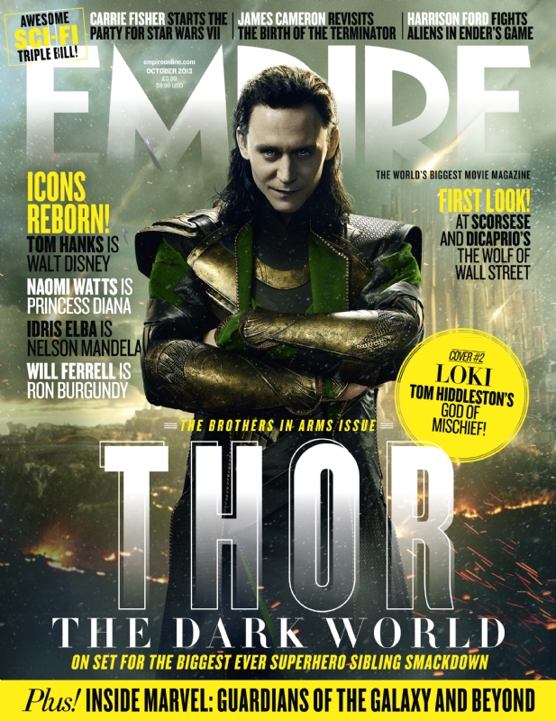 loki-cover2 loki-cover1 Tom Hiddleston Thor: The Dark World empire magazine limited edition cover rare