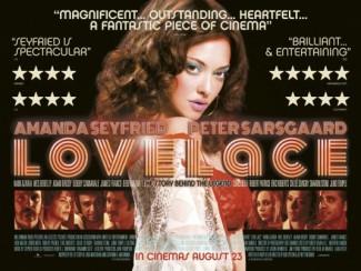 Lovelace UK Quad movie poster amanda seyfried rare Lovelace logo main title image rare promo Amanda Seyfried
