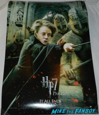 maggie smith signed autograph harry potter mini movie poster 007