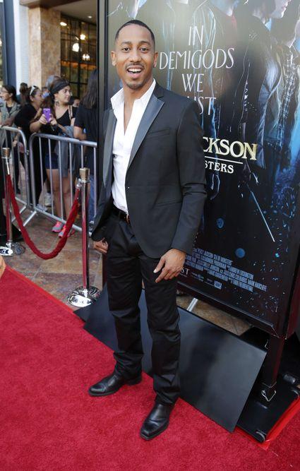 Brandon T. Jackson Percy Jackson sea of monsters glendale fan screening