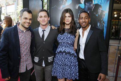 Logan Lerman, Alexandra Daddario, Brandon T. Jackson, Thor Freudenthal percy jackson Sea of Monsters Fan Screening
