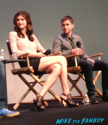 Logan Lerman and Alexandra Daddario percy jackson apple store q and a in New York