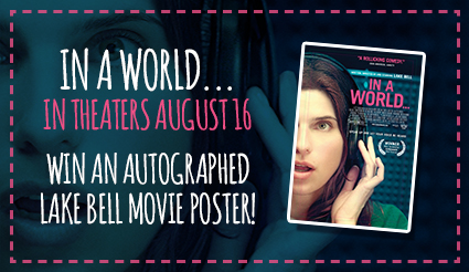 In a world... signed autograph movie poster giveaway