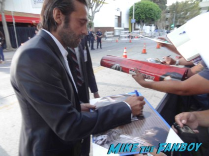Jordi Molla signing autographs for fans riddick movie premiere