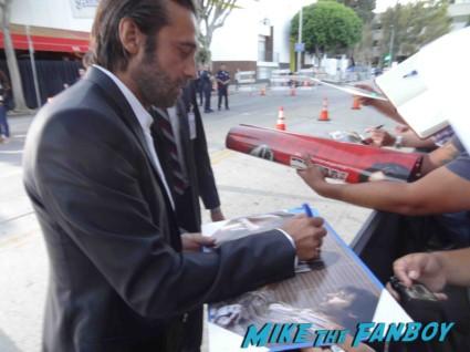 Jordi Molla signing autographs for fans riddick movie premiere