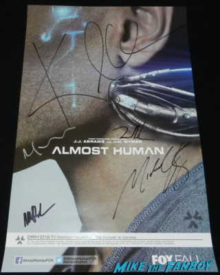Almost Human cast autograph signing SDCC 2013 karl urban rare promo lili taylor sleepy hollow cast signed autograph mini poster Tom Mison Sleepy Hollow Cast autograph signing rare promo san diego comic con 2013 signing autographs day 1 228