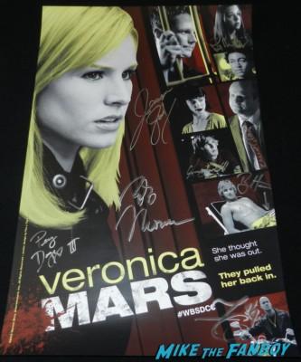 Veronica Mars Movie Cast Autograph Signing! Jason Dohring! Ryan Hansen! Francis Capra! Chris Lowell! Tina Majorino! Enrico Colantoni! Robb Thomas! Percy Daggs III!