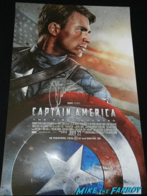 captain america the winter soldier signed concept art poster chris evans emily van decamp san diego comic con 2013 signing autographs day 1 225 san diego comic con 2013 signing autographs day 1 223