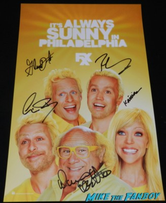 It's Always Sunny in Philadelphia cast signing sdcc comic con 2013 fox booth