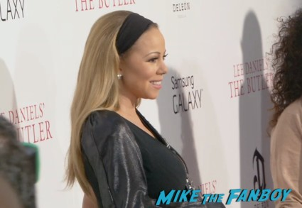 Mariah Carey on the red carpet at the butler movie premiere ny red carpet jane fonda oprah winfrey mariah carey (17)
