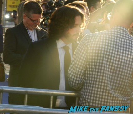 edgar wright on the red carpet at the the world's end movie premiere simon pegg signing autographs 025