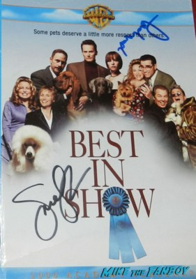 PArker Posey signed autograph best in show dvd cover rare