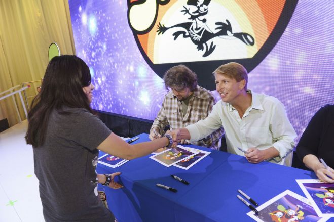 Wander Over Yonder Cast Autograph Signing! 30 Rock's Jack McBrayer! Craig McCracken! April Winchell! D23 Autograph Goodness