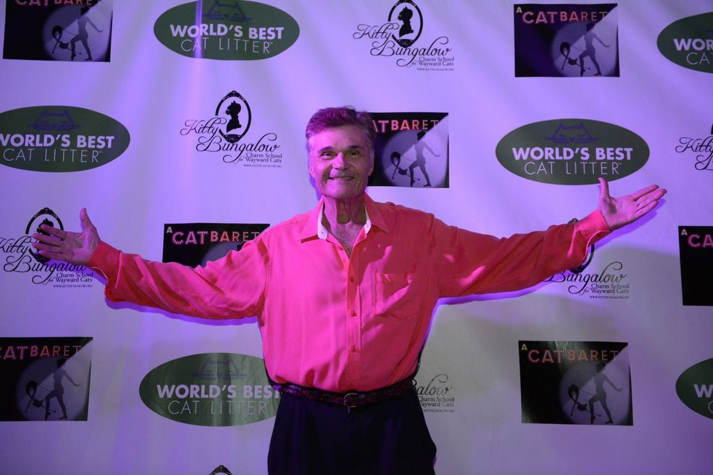 Fred Willard on the red carpet at A CATBARET!