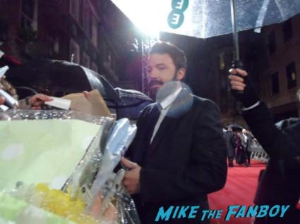 Ben Affleck signing autographs for fans rare