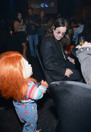 Ozzy Osbourne The curse of chucky premiere eyegore awards red carpet