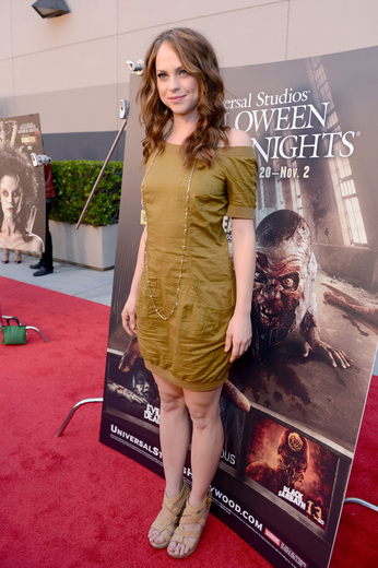 Fiona Dourif The curse of chucky premiere eyegore awards red carpet
