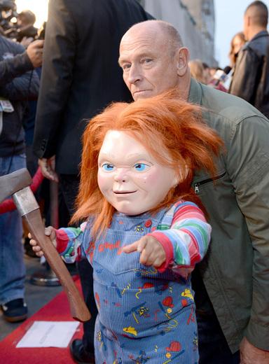 corbin bernson The curse of chucky premiere eyegore awards red carpet
