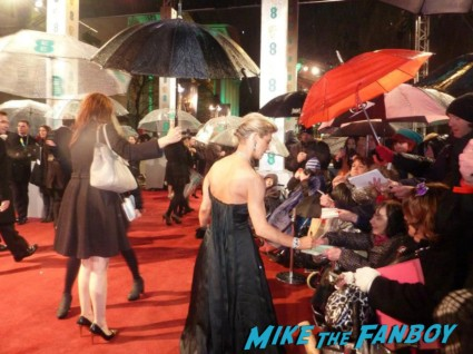 Emilia Fox signing autographs for fans