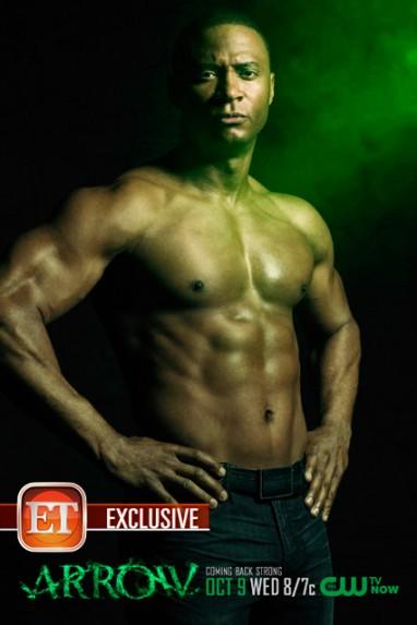 David Ramsey shirtless naked arrow promo poster limited edition rare hot promo