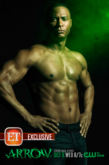 David Ramsey shirtless naked arrow promo poster limited edition rare hot promo