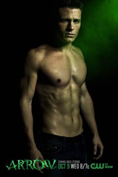 Colton haynesl shirtless naked arrow promo poster limited edition rare hot promo